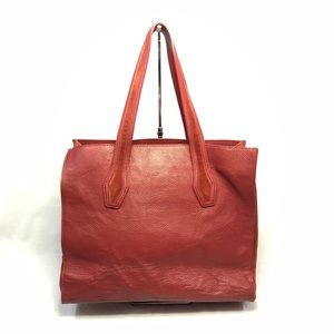 Alberta Di Canio Red Leather Tote || Made in Italy